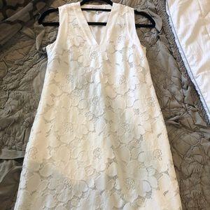 BCBG white lace floral dress XXS. Worn once!